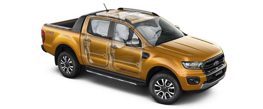 Hệ thống túi khí an toàn trên xe Ford Ranger 2020