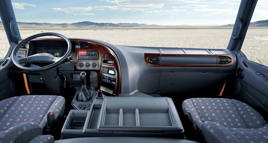 Nội thất và tiện nghi trên Hyundai HD 2020