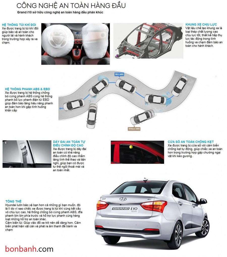 Hệ thống an toàn của Hyundai i10 2020