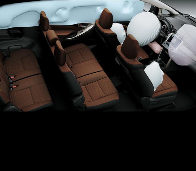 Hệ thống túi khí an toàn trên Toyota Innova 2020