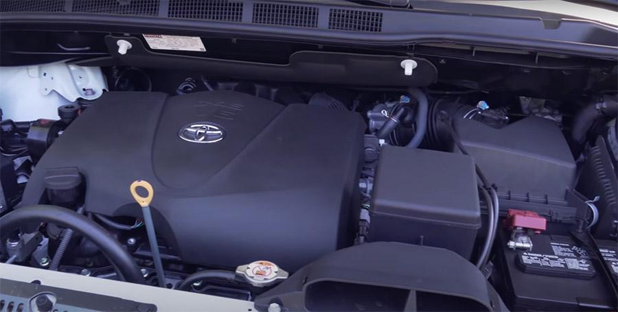 Động cơ xe Toyota Sienna 2020