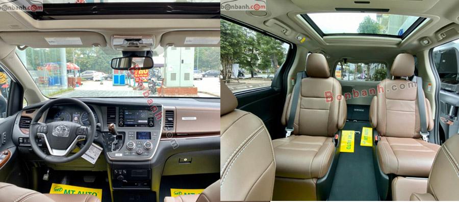 Nội thất xe Toyota Sienna 2020